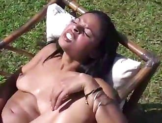 Outdoor animal porn, animal sex, meaty red dick